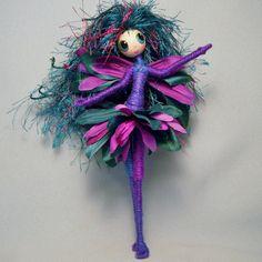 FLOWER FAIRY Fun and Flirty OOAK Faerie Doll Art by WistfulFaerie