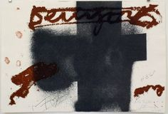 Artist: Antoni Tàpies, title: Black cross, technology: Etching, aquatint, Vernis Mou