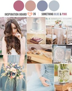 A 'Something Blue' and Pink Inspiration Board