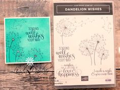 Linda Parker UK Independent Stampin' Up! Demonstrator from Hampshire @ Papercraft With Crafty : Pretty Dandelion Wishes on a Sponged and Marbled Background