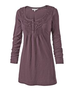 Bronwyn Embroidered Tunic in Dusty Mauve. This store has many bohemian tunics in Type 2 colors.