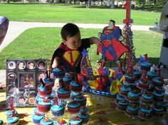 Kids Birthday Party Ideas on Superman Theme Baby Boy Birthday, Superhero Birthday Party, Boy Birthday Parties, 2nd Birthday, Superman Party, First Birthday Party Decorations, Party Themes For Boys, Birthday Ideas, Pirate Decor