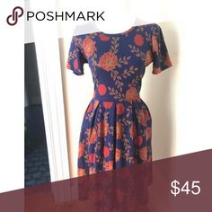 LLR Lularoe Amelia Floral Dress Worn twice. Excellent condition. Beautiful print. LuLaRoe Dresses