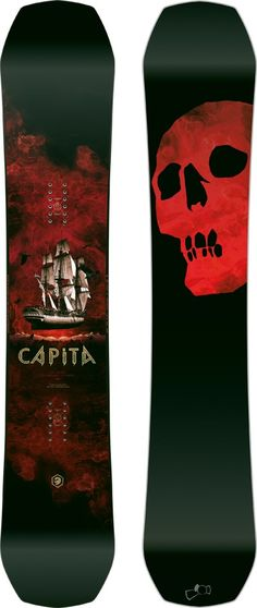 Capita Black Snowboard Of Death Hybrid Camber Snowboard, 162cm 2018