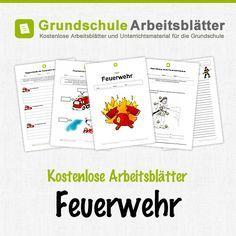 Kostenlose Arbeitsblätter und Unterrichtsmaterial für den Sachunterricht zum Thema Feuerwehr in der Grundschule.