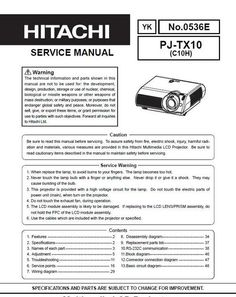 Hitachi cp x 325 w projector original service manual pinterest original service manual for the hitachi pj tx 100 videoprojector in pdf format the fandeluxe Choice Image