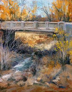 Delgado Street Bridge by Margi Lucena Pastel ~ 14 x 11