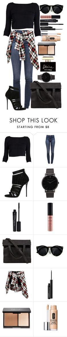 """Untitled #1368"" by fabianarveloc ❤ liked on Polyvore featuring J Brand, Jimmy Choo, Larsson & Jennings, Smashbox, NYX, Alexander Wang, MAC Cosmetics, Clinique, Dolce&Gabbana and women's clothing"