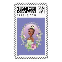 Tiana  Flower Frame Purple Stamp
