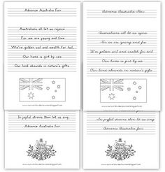 Our Worldwide Classroom: Free Printable Australia Day Learning Packet Advance Australia Fair, Australia Day, Australian National Anthem, Aus Day, Preschool Rooms, Anzac Day, Craft Free, Classroom Displays, Home Schooling