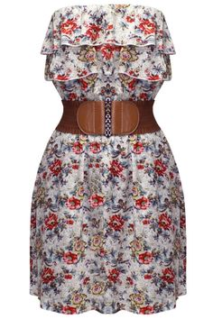 FLORAL PRINTED BANDEAU DRESS.... Love It <3