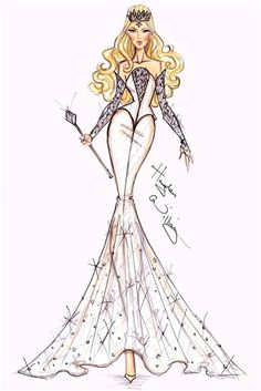 Disney : 'Oz' fashion illustration by Hayden Williams - Glinda Hayden Williams, Disney Style, Disney Art, Moda Disney, Illustration Tumblr, Disney Divas, Creation Art, Fashion Design Sketches, The Villain