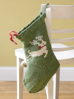 @ Lion Brand: Free pattern for Festive Reindeer Stocking