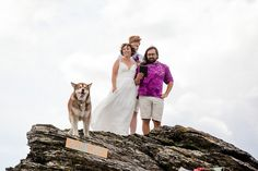 I adore everything about this outdoor Alaska wedding, especially the dog haha - Offbeat Bride