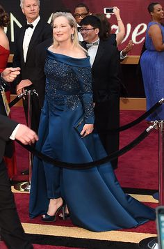 Meryl Streep wearing Jimmy Choo Sandals to the 89th Annual Academy Awards in Los Angeles