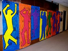 The 7th grader's turned into Pop Artists earlier this semester as we studied Keith Haring! We created a paper mural using Haring's figu...