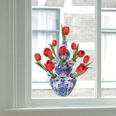 Delftsblauw. Delftware. (Window stickers 'Flat Flowers') by AliceinHolland, €9.50