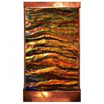 Sky's on Fire Copper Wall Fountain