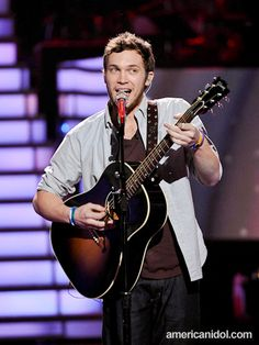 """Phillip Phillips performs """"That's All"""" by Genesis at the Top 8 performance show."""