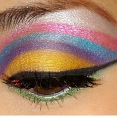 Rainbows!! THIS IS HOW I USED TO DO MY MAKE UP IN HIGH SCHOOL! LOL!
