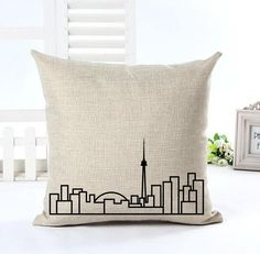 Toronto Skyline Cushion Cover