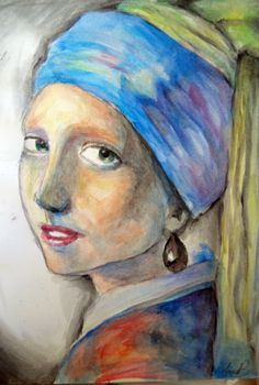 Girl with a Pearl Earring by lfzmultimidiaviantart on
