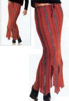 Patrones Crochet: Patron Crochet Falda Picos