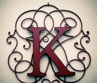 I have a wrought iron wall piece already, this is exactly what I need to do to spruce it up for the piece at the end of my hallway! Wrought Iron Decor, Iron Wall Decor, Alphabet, Iron Work, Letters And Numbers, Fancy Letters, My New Room, Hand Lettering, Diy Projects