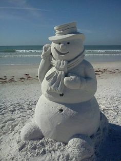 ...A Florida Snowman....or is that Sandman?