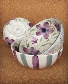 Ceramic Painting, Ceramic Art, Diy And Crafts, Arts And Crafts, Cherry Kitchen, Painted Plates, Pottery Techniques, Plates And Bowls, Ceramic Bowls