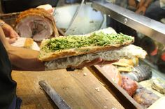 Sandwich making at All'Antico Vinaio