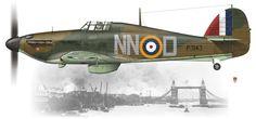 Czechoslovak pilots in WW II Ww2 Aircraft, Fighter Aircraft, Military Aircraft, Fighter Jets, Hawker Typhoon, Hawker Hurricane, Supermarine Spitfire, Ww2 Planes, Battle Of Britain