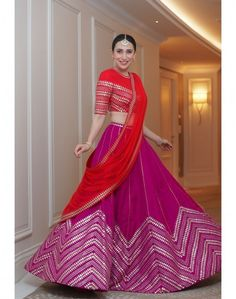 Find top amazing chevron pattern lehenga designs for weddings. Beautiful Chevron Lehenga designs for brides and bridesmaids must check out once. Indian Gowns Dresses, Indian Fashion Dresses, Dress Indian Style, Indian Designer Outfits, Indian Wear, Indian Attire, Party Wear Lehenga, Bridal Lehenga Choli, Indian Lehenga