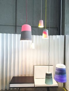 Colorful ceramic lighting by Meyers and Fügmann
