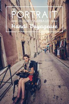 Portrait d'une voyageuse en fauteuil roulant, Audrey Barbaud #voyage #handicap