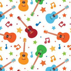 Buy PUL fabric in Rock Star Guitar print by the yard or cut. Make cloth diapers, snack bags, and more! Made in USA. Waterproof, breathable, food safe, CPSIA compliant.