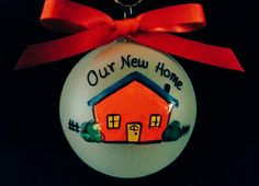 Our New Home-personalized ornament New home by Wurksfromtheheart