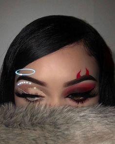 Halloween makeup clown - halloween make-up clown - clown maquillage halloween - payaso de maquillaje de halloween - halloween makeup easy, halloween makeup scary, halloween m Creative Eye Makeup, Eye Makeup Art, Simple Makeup, Makeup Lips, Cool Makeup Looks, Prom Makeup, Eyeshadow Makeup, Fall Eye Makeup, Cute Eye Makeup
