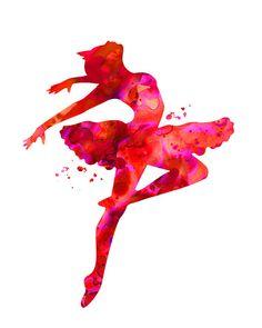 Red Ballerina Digital Download ballerina by DiamondArtDigital