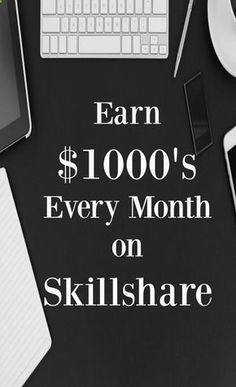 See how you can make money from home by creating classes for Skillshare. Side income, passive income.