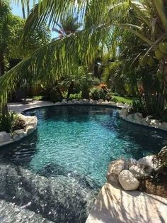 Having a natural swimming pool is indeed a good investment. This list of natural swimming pool ideas will help you to get a stunning one! Luxury Swimming Pools, Natural Swimming Pools, Luxury Pools, Dream Pools, Natural Pools, Natural Backyard Pools, Outdoor Pool, Backyard Pool Landscaping, Backyard Pool Designs