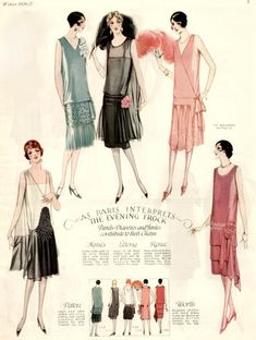 20s Fashion, Art Deco Fashion, Fashion History, Vintage Fashion, Fashion Beauty, Fashion Design, Fashion In The 1920s, Style Année 20, 1920 Style