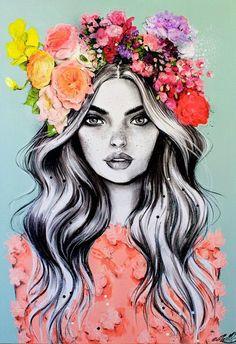 cover illustration x pippa mcmanus. Tableau Pop Art, Creation Art, Cute Drawings, Realistic Drawings, Art Drawings Beautiful, Pencil Drawings, Love Art, Painting & Drawing, Wreath Drawing