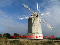 "Ashcombe Windmill 6 sweeps up October 2015. Project finished ~ The mill was built in the early 1800s and blown down in 1916. It is now restored.   The English expression ""One sandwich short of a picnic"" has an equivalent in Dutch  ""Hij heft een klap van de molen gehad"" , which translates as ""he got a blow from a windmill"""