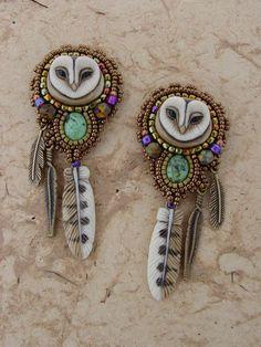 Sweet Little Owl Earrings by freespiritheidi on Etsy...