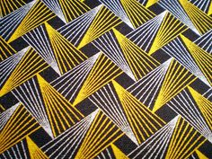Retro Flash In Yellow And Brown Original by chocolatnegrodesign