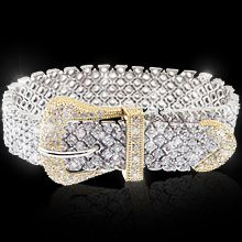 """""""Heiress""""This look-great, classy bracelet is sure to rate a perfect ten! Fifth Avenue Collection's talented goldsmiths create a look inspired by the glamorous flair found only in the high fashion streets of Paris. Fifth Avenue Collection, Paris Street, Bridal Collection, Looks Great, High Fashion, Jewlery, Classy, Glamour, Street Style"""