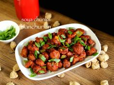 soya manchurian recipe, dry soya chunks manchurian with step by step photo/video. popular manchurian recipe from indo chinese cuisine or indian street food.