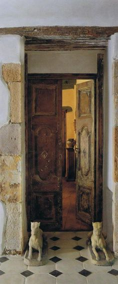 ...just something about old doors that I find very comforting. Maybe it's the idea of all the people coming and going...that makes the world go 'round.