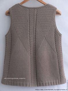 Gradient Baby Vest Making - bebek yelponcoyaplmliekleri - Baby Knitting Patterns, Knitting Stitches, Knitting Designs, Baby Sweater Patterns, Pullover Design, Sweater Design, Diy Crafts Knitting, Easy Knitting, Knit Vest Pattern